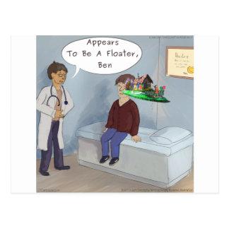 Cartão Postal O oftalmologista encontra um vagabundo do olho da