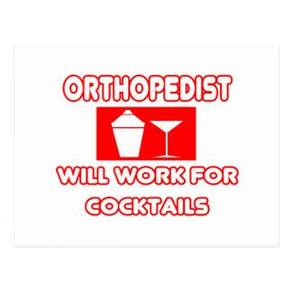 Cartão Postal O Orthopedist… trabalhará para cocktail