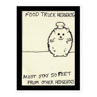 Cartão Postal O ouriço do caminhão da comida é só