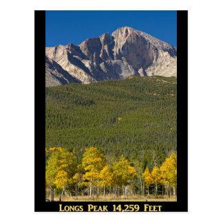 Cartão Postal O ouro Longs poster do pico 14259