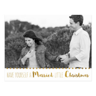 Cartão Postal O ouro, o casado e o Natal brilhante salvar a data