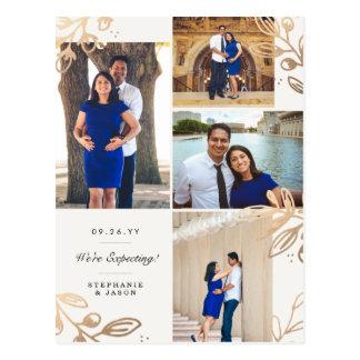 Cartão Postal O ouro sae do anúncio da gravidez de 4 fotos
