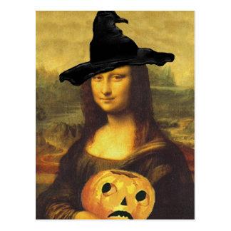 Cartão Postal O outono de Mona Lisa da bruxa alterou a arte pelo