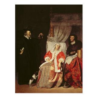 Cartão Postal O paciente e o doutor, 1660s