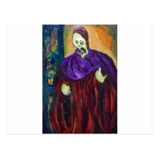 Cartão Postal O padre alto (retrato do expressionism)