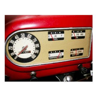Cartão Postal o painel & os calibres do camionete dos anos 40