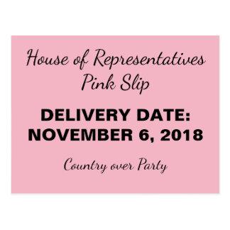 Cartão Postal O país 2018 do deslizamento cor-de-rosa do
