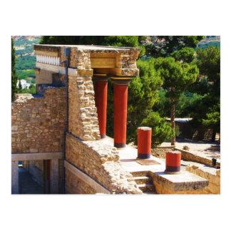 Cartão Postal O palácio de Minoan da imagem de Knossos