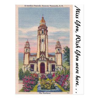 Cartão Postal O panteão, Caracas, Venezuela
