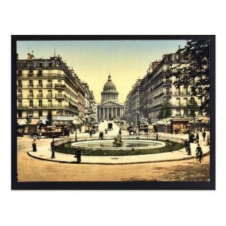 Cartão Postal O panteão e a rua Soufflot, Paris, France c