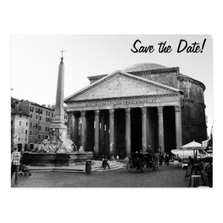 Cartão Postal O panteão em Roma, Italia