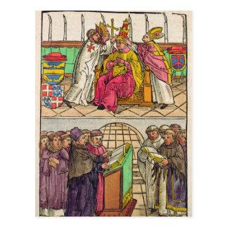 Cartão Postal O papa Martin V é instalado ao papado