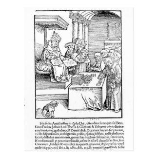 Cartão Postal O papa que vende indulgência