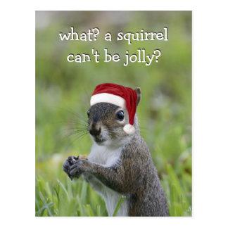 Cartão Postal O papai noel Squirrel PODE ser alegre este Natal…