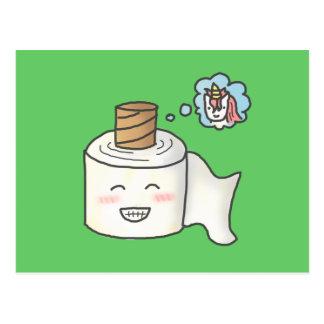 Cartão Postal O papel higiénico engraçado bonito que sonha o é