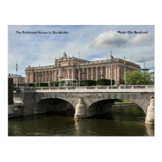 Cartão Postal O parlamento abriga em Éstocolmo…
