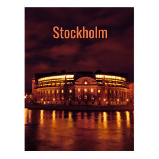 Cartão Postal O parlamento abriga em Éstocolmo, suecia