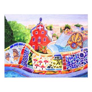 Cartão Postal O parque de Gaudi