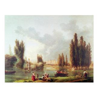 Cartão Postal O parque e o castelo em Mereville