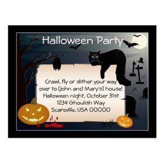 Cartão Postal O partido do Dia das Bruxas convida