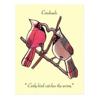 """Cartão Postal """"O pássaro adiantado trava o sem-fim. """"Cartão"""