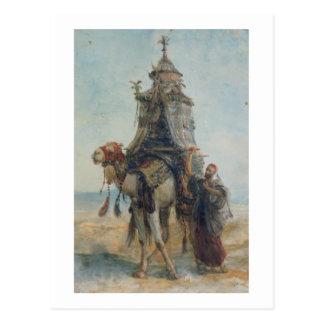 Cartão Postal O passeio do deserto, 1839 (w/c no papel)