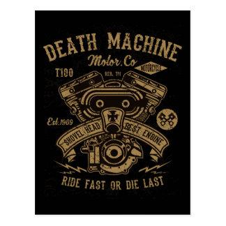 Cartão Postal O passeio do motor de Harley da máquina da morte