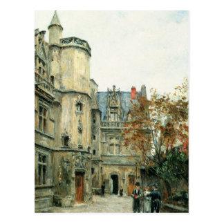 Cartão Postal O pátio do museu de Cluny, c.1878-80