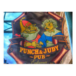 Cartão Postal O perfurador e o sinal do bar de Judy