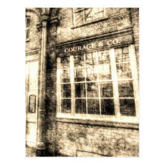 Cartão Postal O perfurador e o vintage do jardim de Covent do