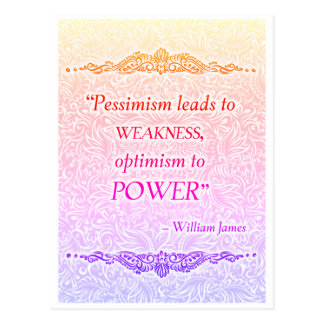 Cartão Postal O pessimismo conduz à fraqueza - Quote´s positivo