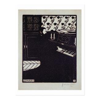 Cartão Postal O piano, 1914 (woodcut)