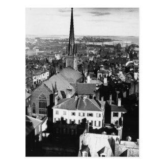 Cartão Postal O pináculo ornamented de uma igreja em Boston