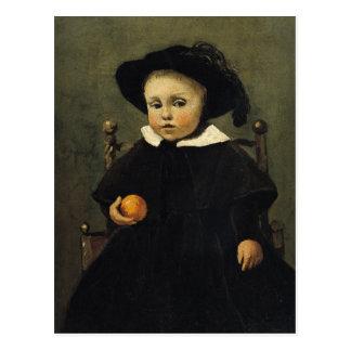 Cartão Postal O pintor Adolfo Desbrochers como uma criança