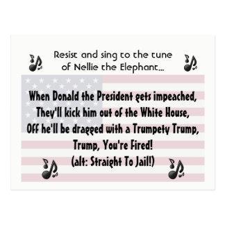 Cartão Postal O poema lírico da canção da destituição de Donald