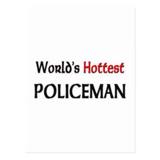 Cartão Postal O polícia o mais quente dos mundos