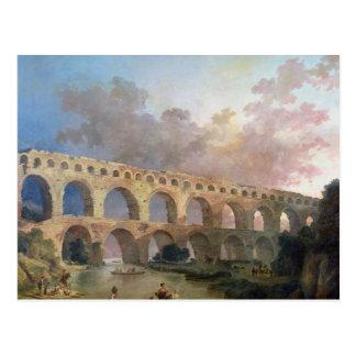 Cartão Postal O Pont du Gard, Nimes, c.1786