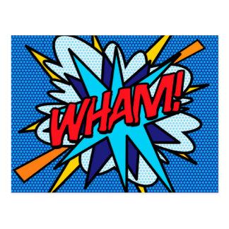 Cartão Postal O pop art da banda desenhada WHAM!