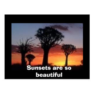 Cartão Postal O pôr do sol é tão bonito