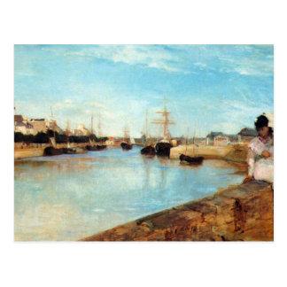 Cartão Postal O porto de Lorient por Berthe Morisot