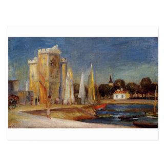 Cartão Postal O porto de Rochelle por Pierre-Auguste Renoir