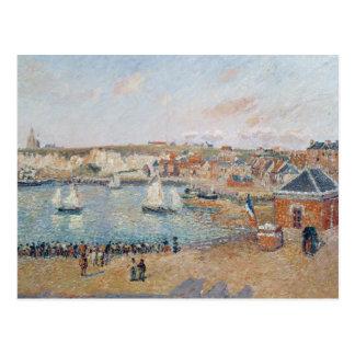 Cartão Postal O porto exterior em Dieppe, 1902