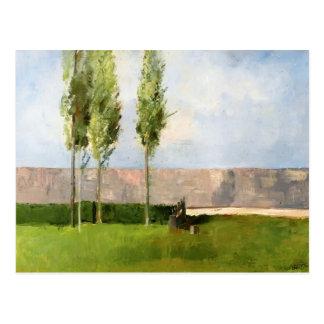 Cartão Postal O prado por Odilon Redon