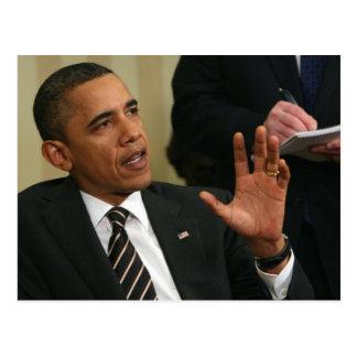 Cartão Postal O presidente Barack Obama fala à imprensa