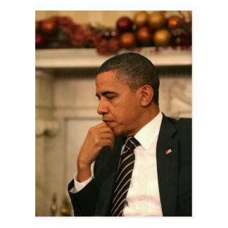 Cartão Postal O presidente Barack Obama reflete enquanto se