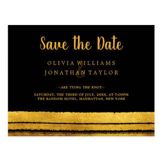 Cartão Postal O preto e o curso da escova do ouro salvar a data