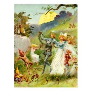 Cartão Postal O príncipe e o Thumbelina feericamente