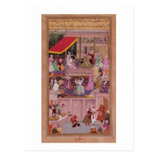 Cartão Postal O príncipe novo com seus pais, 'do Akbar