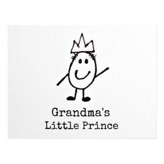 Cartão Postal O príncipe pequeno da avó