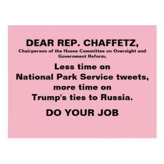 Cartão Postal O protesto cor-de-rosa de Rússia do trunfo de